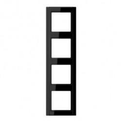 Рамка 4-постовая Jung A 500 черная A584SW