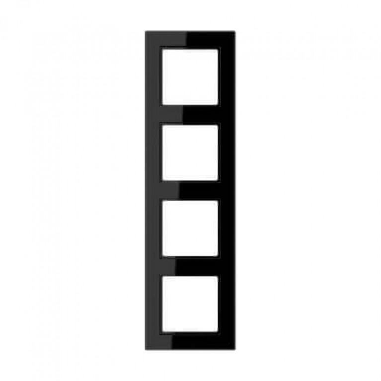 Рамка 4-постовая Jung A creation черная AC584SW