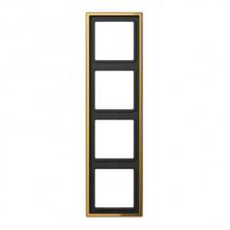 Рамка 4-постовая Jung LS 990 блеск золота GO2984