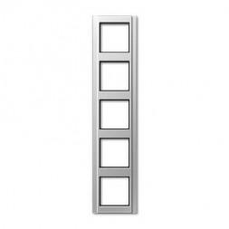 Рамка 5-постовая Jung A 500 алюминий A585AL