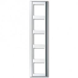 Рамка 5-постовая Jung A 500 алюминий/белая AP585ALWW
