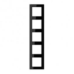 Рамка 5-постовая Jung A 500 черная A585SW
