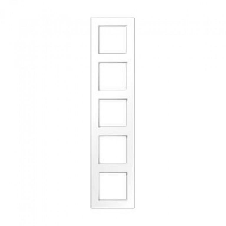 Рамка 5-постовая Jung A creation белая AC585WW