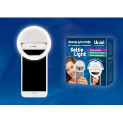 Светодиодный фонарь для селфи Uniel (UL-00002623) от батареек S-Hl100-B White