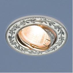 Встраиваемый светильник Elektrostandard 713 MR16 WH/SL белый/серебро 4690389060724