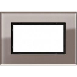 Рамка 1,5-модульная Gira Esprit дымчатое стекло 1001122
