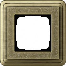 Рамка 1-постовая Gira ClassiX Art бронза 0211661