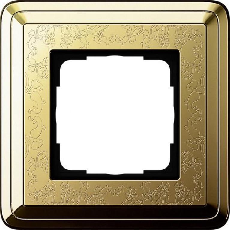 Рамка 1-постовая Gira ClassiX Art латунь 0211671
