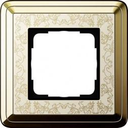Рамка 1-постовая Gira ClassiX Art латунь/кремовый 0211673