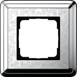 Рамка 1-постовая Gira ClassiX Art хром 0211681