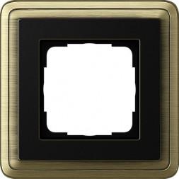 Рамка 1-постовая Gira ClassiX бронза/черный 0211622