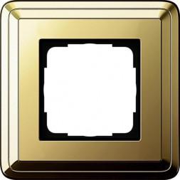 Рамка 1-постовая Gira ClassiX латунь 0211631