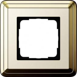 Рамка 1-постовая Gira ClassiX латунь/кремовый 0211633