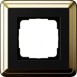 Рамка 1-постовая Gira ClassiX латунь/черный 0211632