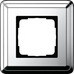 Рамка 1-постовая Gira ClassiX хром 0211641