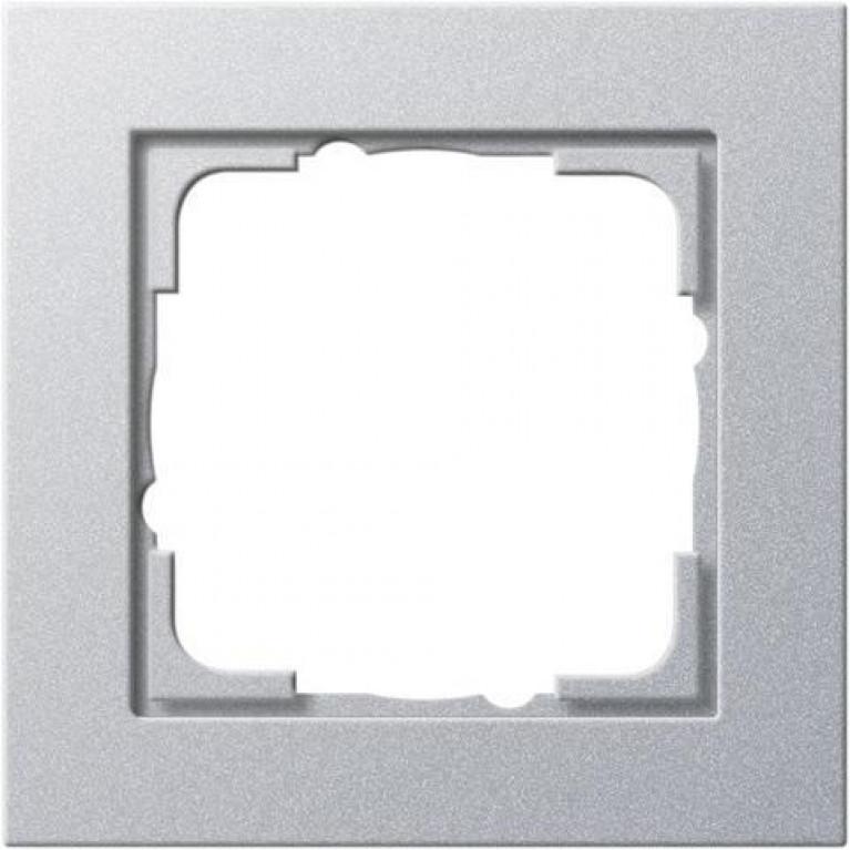 Рамка 1-постовая Gira E2 алюминий 021125