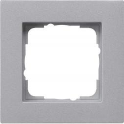 Рамка 1-постовая Gira E2 монтаж заподлицо алюминий 0211255