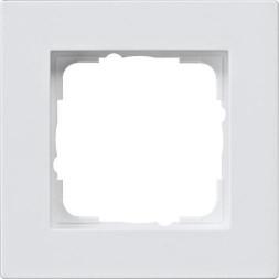 Рамка 1-постовая Gira E2 монтаж заподлицо чисто-белый шелковисто-матовый 0211225