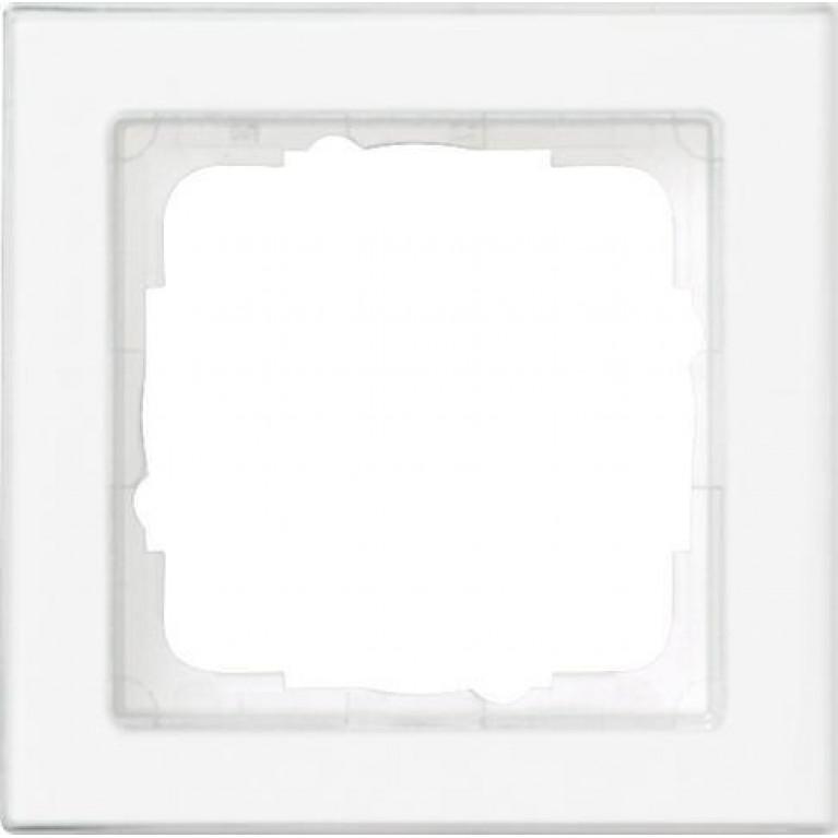 Рамка 1-постовая Gira E2 полностью надписываемая чисто-белый глянцевый 071122