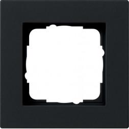 Рамка 1-постовая Gira E2 черный матовый 0211095