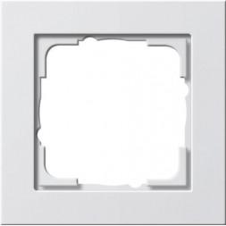 Рамка 1-постовая Gira E2 чисто-белый шелковисто-матовый 021122