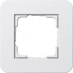 Рамка 1-постовая Gira E3 белый глянцевый 0211410