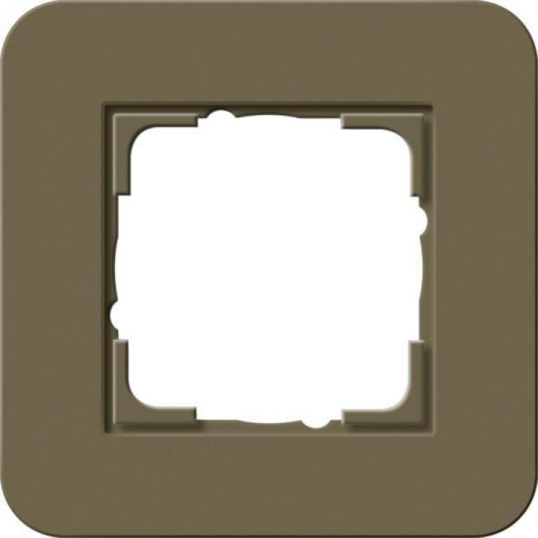 Рамка 1-постовая Gira E3 дымчатый/антрацит 0211426
