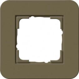 Рамка 1-постовая Gira E3 дымчатый/белый глянцевый 0211416
