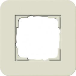 Рамка 1-постовая Gira E3 песочный/белый глянцевый 0211417