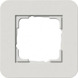 Рамка 1-постовая Gira E3 светло-серый/белый глянцевый 0211411
