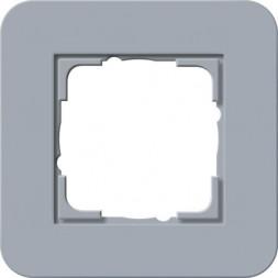 Рамка 1-постовая Gira E3 серо-голубой/антрацит 0211424