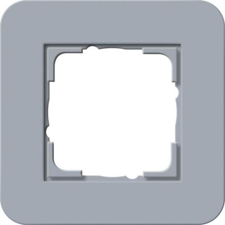 Рамка 1-постовая Gira E3 серо-голубой/белый глянцевый 0211414