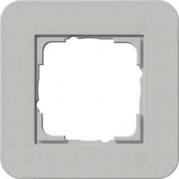 Рамка 1-постовая Gira E3 серый/антрацит 0211422