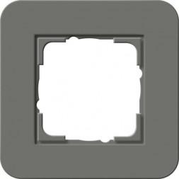 Рамка 1-постовая Gira E3 темно-серый/белый глянцевый 0211413