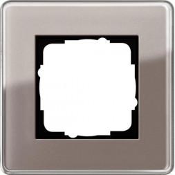 Рамка 1-постовая Gira Esprit C дымчатое стекло 0211522
