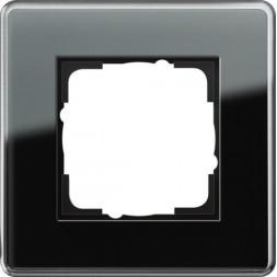 Рамка 1-постовая Gira Esprit C черное стекло 0211505