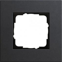 Рамка 1-постовая Gira Esprit Lenoleum-Multiplex антрацит 0211226