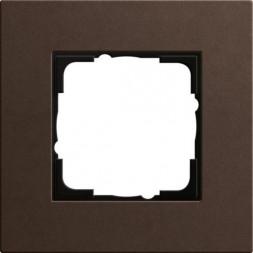 Рамка 1-постовая Gira Esprit Lenoleum-Multiplex коричневый 0211223