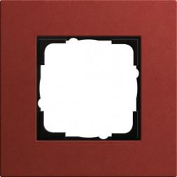 Рамка 1-постовая Gira Esprit Lenoleum-Multiplex красный 0211229