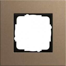 Рамка 1-постовая Gira Esprit Lenoleum-Multiplex светло-коричневый 0211221