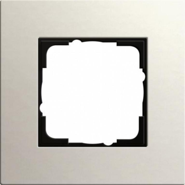 Рамка 1-постовая Gira Esprit Lenoleum-Multiplex светло-серый 0211220