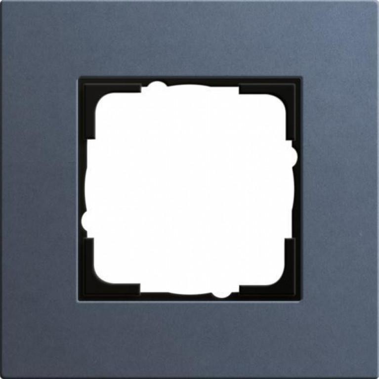 Рамка 1-постовая Gira Esprit Lenoleum-Multiplex синий 0211227