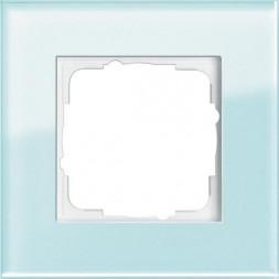 Рамка 1-постовая Gira Esprit салатовое стекло 021118