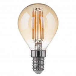 Лампа светодиодная филаментная F E14 6W 3300K золотой 4690389108303