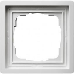 Рамка 1-постовая Gira F100 чисто-белый глянцевый 0211112