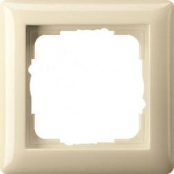 Рамка 1-постовая Gira Standard 55 кремовый глянцевый 021101