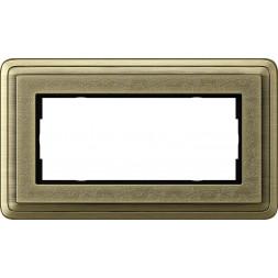 Рамка 2-модульная Gira ClassiX Art бронза 1002661