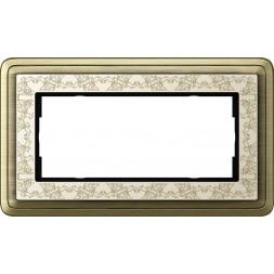 Рамка 2-модульная Gira ClassiX Art бронза/кремовый 1002663