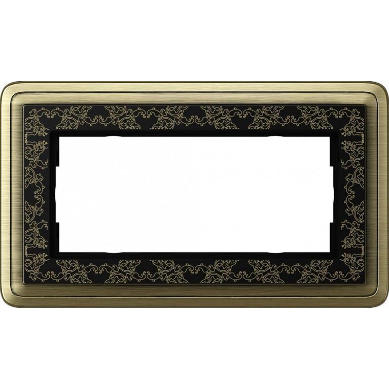 Рамка 2-модульная Gira ClassiX Art бронза/черный 1002662
