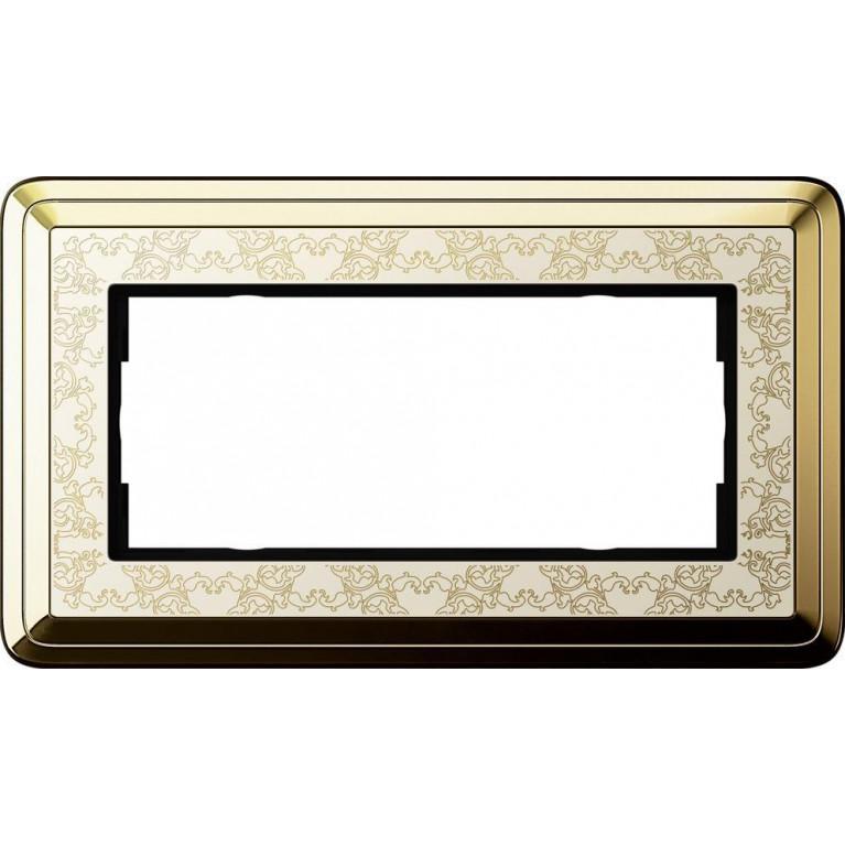 Рамка 2-модульная Gira ClassiX Art латунь/кремовый 1002673